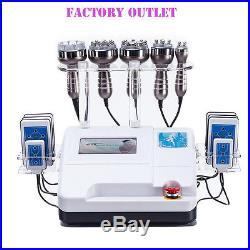 6in1 Ultrasonic Cavitation Vacuum Radio Frequency Vacuum Cellulite Slim Machine