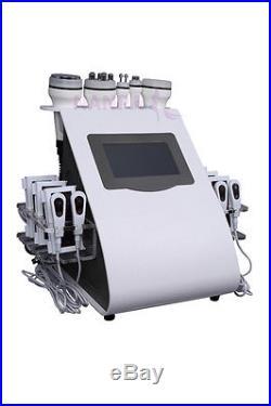 6in1 Ultrasonic Fat Cavitation Vacuum RF Laser Body Slimming Weight Loss Machine