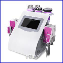 6in1 Ultrasonic Vacuum 40K Cavitation RF Radio Frequency Slim Cellulite Machine