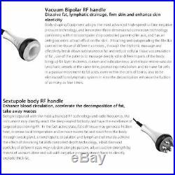 6in1 Ultrasonic Vacuum Cavitation RF Frequency Body Slimming Cellulite Machine