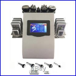 6in1 Ultrasonic Vacuum Cavitation RF Radio Frequency Body Cellulite Slim Machine