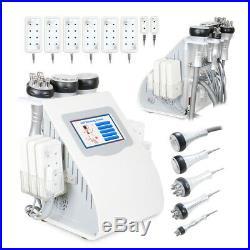 6in1 Ultrasonic Vacuum Cavitation RF Radio Frequency Cellulite Body Slim Machine