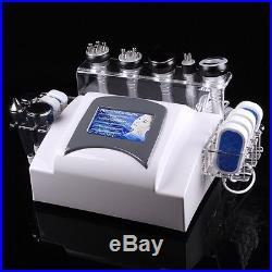 6in1 Vacuum 40K Cavitation Massage Ultrasonic Tripolar RF Slimming Machine Spa