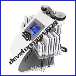 6in1 Vacuum Cavitation RF Frequency Body Slimming Cellulite Machine Ultrasonic