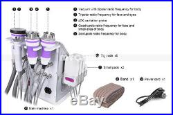6in1 Vacuum Ultrasonic Cavitation 40K RF Body Cellulite Machine Beauty Machne