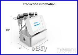 7in1 Ultrasonic Cavitation Multipolar RF Vacuum Cold Head Body Slimming Machine