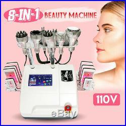 8IN1 Ultrasonic Vacuum Cavitation 40 K RF Radio Slim Body Cellulite Machine 110V
