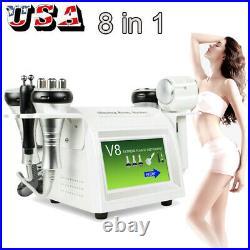 8 IN 1 Vacuum Ultrasonic Cavitation Radio Frequency RF Body Slimming Machine USA
