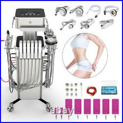 8 in1 Stand Ultrasonic Cavitation RF Vacuum Bio Fat Loss Cellulite Machine Salon
