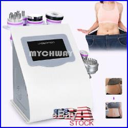 8 in 1 Ultrasonic 40K Cavitation Vacuum RF Body Reshape Slimming Machine US Gift