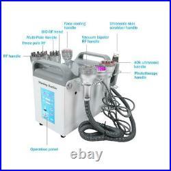 9In1 Ultrasonic Cavitation RF Vacuum Radio Frequency Body Slimming Lift Machine