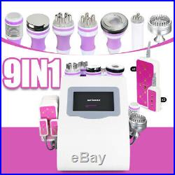 9-1 Ultrasonic 40K Cavitation RF Vacuum LED Photon Microcurrent Slimming Machine