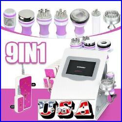 9 IN 1 Ultrasonic Cavitation RF Vacuum Radio Frequency Body Slimming Machine