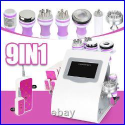 9in1 RF Vacuum Ultrasonic Cavitation 40K Body Slimming Lifting Cellulite Machine