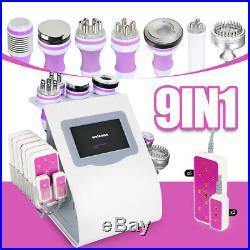 9in1 Ultrasonic Cavitation Radio Frequency RF Vacuum Body Re-shape Machine Salon