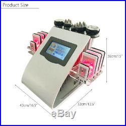 EU 220V 6in1 Vacuum Ultrasonic Cavitation Body Slimming Cellulite RF Machine SPA