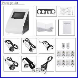 EU 220V 6in1 Vacuum Ultrasonic Cavitation RF Body Slimming Cellulite Machine