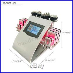 EU Ultrasonic 6 in1 Cavitation RF Frequency Cellulite Body Slim Vacuum Machine