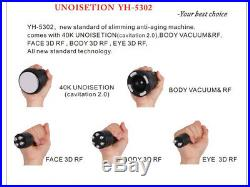 Homeuse Ultrasonic 40K Cavitation Liposuction RF Vacuum Slim Weight Loss Machine