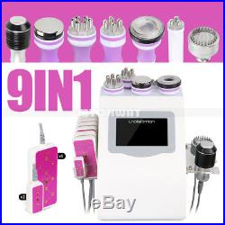 Led 9in1 Vacuum Ultrasonic Cavitation 40K RF Body Slim Lifting Cellulite Machine