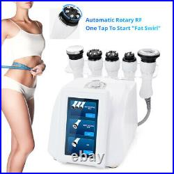 NEW 5in1 Ultrasonic 40K Cavitation Vacuum 360° Rotary RF Body Slimming Machine