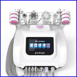S-SHAPE Ultrasonic Cavitation Vacuum Suction LED Laser Body Slimming Machine SPA