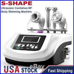S-SHAPE Vacuum Ultrasonic Cavitation Radio Frequency RF Body Slimming Machine