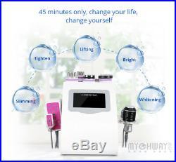 US Stock Led 9in1 Vacuum Ultrasonic Cavitation 40K RF Body Slim Lifting Machine