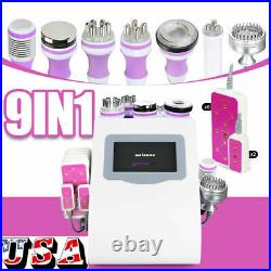 Ultrasonic 9in1 Vacuum Cavitation RF Radio Frequency Slim Cellulite Machine