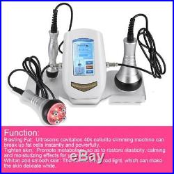 Ultrasonic Cavitation 3 in1 Radio Frequency RF Vacuum Celluite Slimming Machine