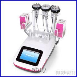 Ultrasonic Cavitation RF Machine 6 in 1 Vacuum Fat Remove LED Laser Pads Machine