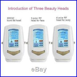 Ultrasonic Dissolve Fat Body Slimming Cavitation Beauty Machine R. F USA 110V