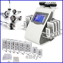 Ultrasonic Vacuum Cavitation RF Radio Frequency 6in1 Slimming Cellulite Machine
