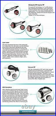 Ultrasonic lipo cavitation machine body countering RF frequency laser slimming